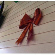 Christmas Ribbon Wall Decoration Red