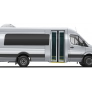 Sprinter Minibus Mercedes-Benz Side View - Buses