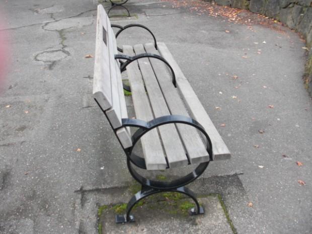 Wooden Park Bench
