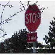 3 Way Stop Sign