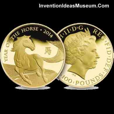 Year of the Horse 2014 Gold Coin UK Royal Mint
