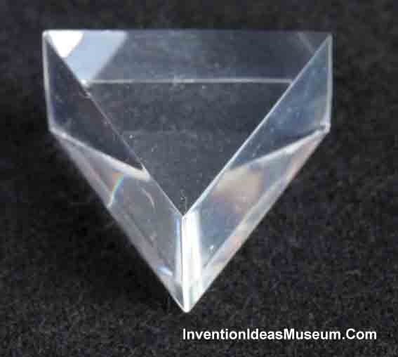 Glass Prism for Light Refraction and Dispersion