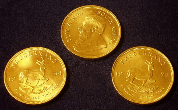 South African Krugerrand Gold Coin - Money