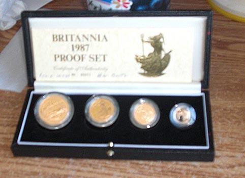 Britannia Gold Proof Set - Coins