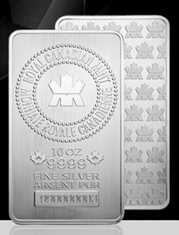 10 ounce Silver Bar - Royal Canadian Mint