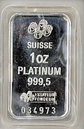 Platinum 1 ounce Bar