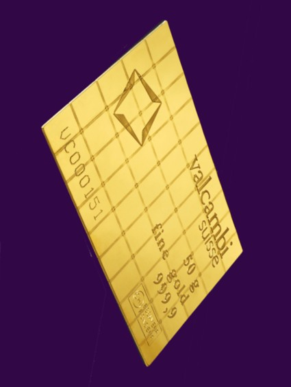 1 Gram Gold Bar Wafers - Valcambi Combibar