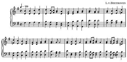Ode to Joy Music Score