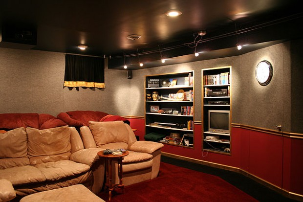 home theater system and entertainment room family invention