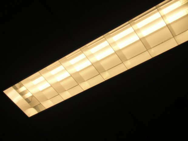 Fluorescent Lights on Ceiling - Electricity