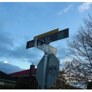 Street Signs Perpendicular To Each Other - Directions