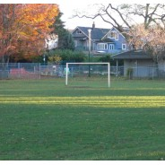Soccer Post on Soccer Field
