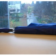 Black Foldable Umbrella - Raingear thumb